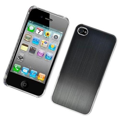 Iphone 4 Cdma 4S Luxury Metal Case C1201 - Black