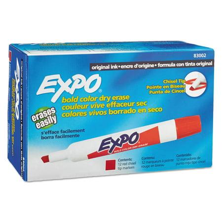 EXPO Dry Erase Markers, Chisel Tip, Red, Dozen - Walmart.com