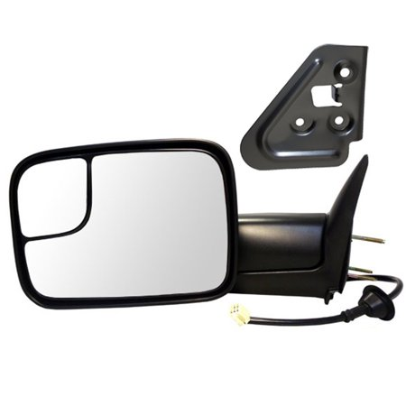 Drivers Power Tow 7x10 Flip Up Performance Upgrade Mirror Heated with Bracket Replacement for Dodge Pickup Truck 55076489AG, Brand new aftermarket replacement By AUTOANDART Pickup Performance Chips