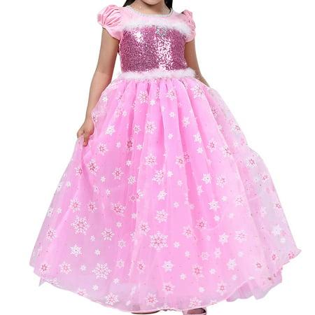 Little Girls Princess Aurora Costume Halloween Party Dress - Light Up Girl Halloween Costumes