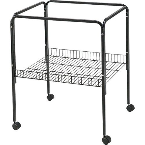 A and E Cage Co. Black Bird Cage Stand