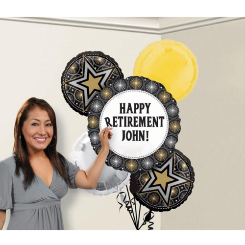 Hollywood 'Glitter Starz' Customizable Foil Mylar Balloon Bouquet (5pc)