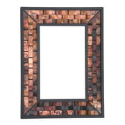 Rushton Large Copper Wall Mirror (Natural Black)