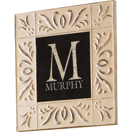 Personalized Vintage Style Embossed Metal Name Plate