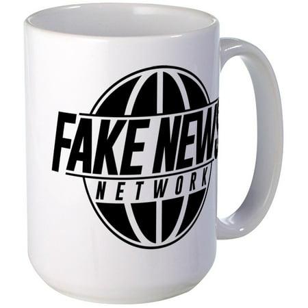 CafePress - Fake News Network - 15 oz Ceramic Large Mug (Large Fake Ice Blocks)