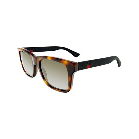 Gucci Anti-reflective GG0008S-006-53 Black Square Sunglasses