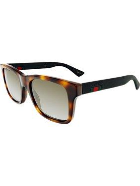 ac6e20b6c5b2b Product Image Gucci Anti-reflective GG0008S-006-53 Black Square Sunglasses