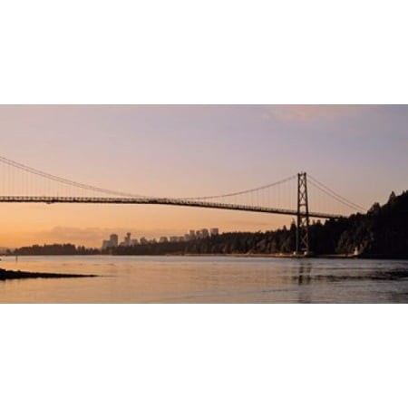 Vancouver Lions Gate Bridge Poster Print By Panoramic Images  25 X 12