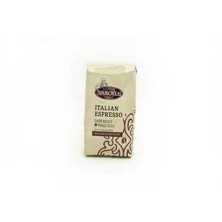 PapaNicholas Coffee Italian Espresso Whole Bean 10oz Bag