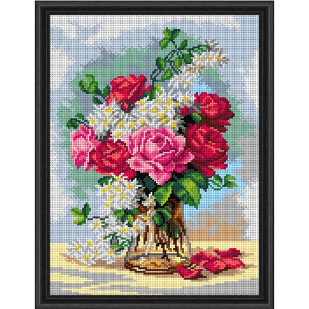 Bouquet Needlepoint (Orchidea Victorian Rose Bouquet Needlepoint Canvas)