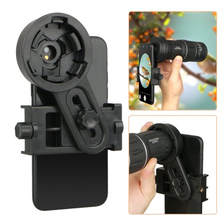 Universal Cell Phone Quick Photography Adapter Mount Holder Clip Bracket for Microscope Binocular Monocular Spotting Scope Telescope Accessories Fits for Almost Smartphone with 55-98mm (Appscope Quick Attach Microscope For Phones And Tablets)