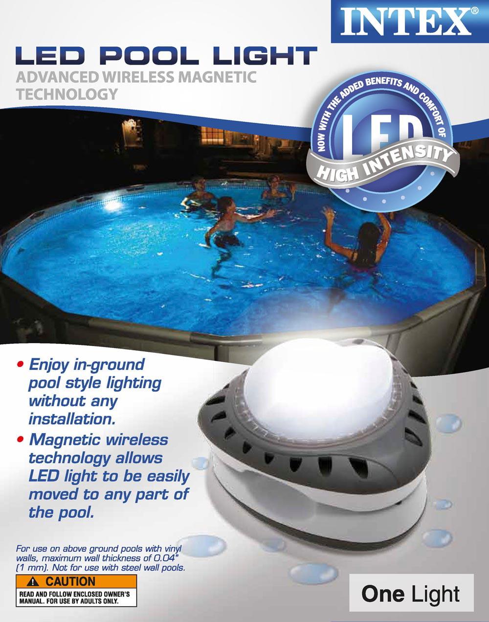 Intex above ground energy efficient led magnetic swimming pool wall intex above ground energy efficient led magnetic swimming pool wall light 28687e walmart aloadofball Choice Image