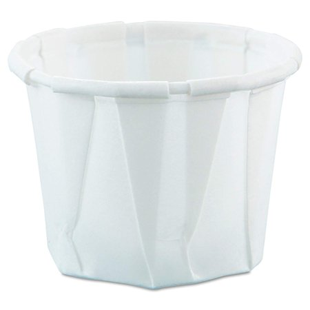 Solo Paper Disposable Souffle Cup 0502050 0.5 Ounces Pack of 250, - Souffle Cup Dispenser