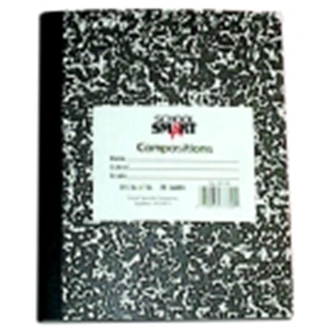 School Smart 8.5 x 7 in. Flexible Composition Book - 40 Leaves, 80 Sheets