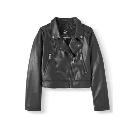 Beverly Hills Polo Club Faux Leather Moto Jacket (Big Girls) ()