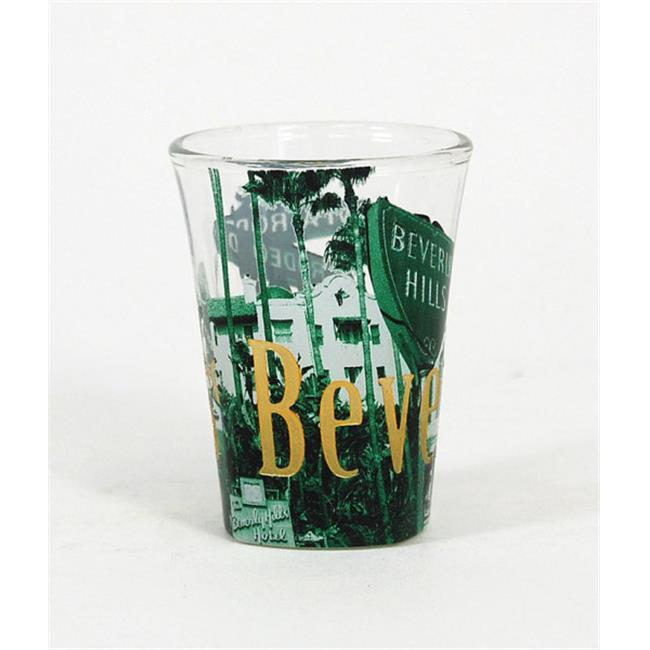 Americaware SGBHC01 Beverly Hills Duo Tone Etched Shot Glass by Americaware