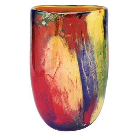 Badash Firestorm Murano Style Art Glass Oval Vase