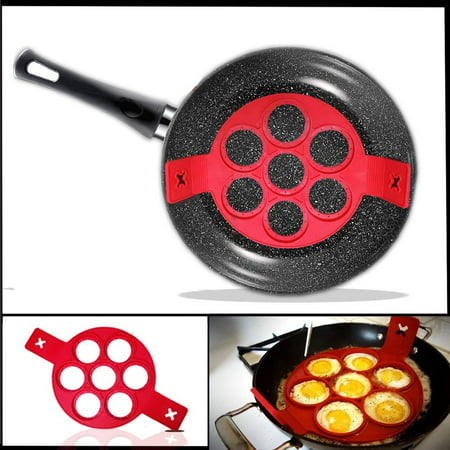 Pancake Mold Ring - Makes the perfect pancakes, eggs, hash browns, & brownies in non-stick silicone maker tool. Kitchen bakeware from high grade