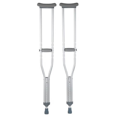 Underarm Crutches, McKesson, Aluminum Frame, Adult, 350 lbs. Weight Capacity