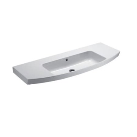 nameeks 772411 gsi modo 47 15 ceramic wall mounted bathroom sink with - Wall Mounted Bathroom Sink