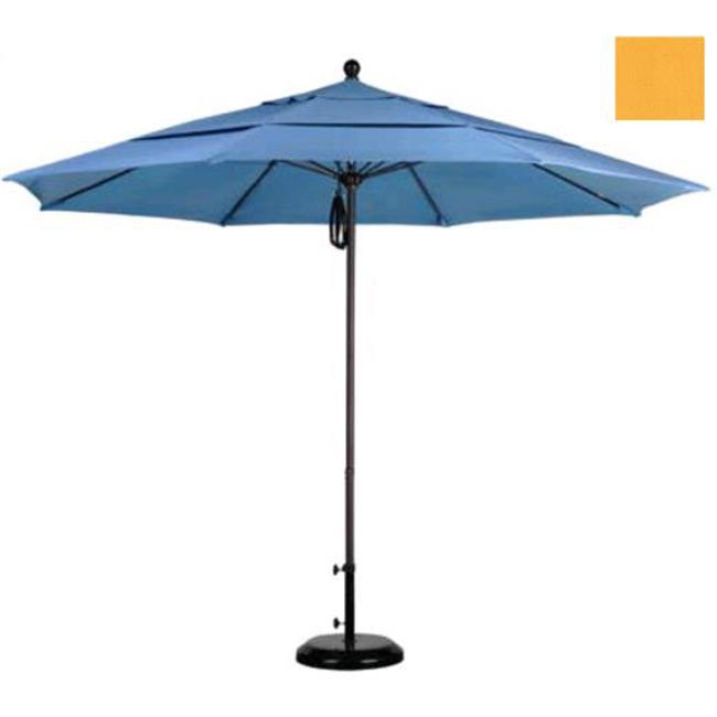 California Umbrella ALTO118117-F25-DWV 11 ft. Fiberglass Market Umbrella PO DVent Bronze-Olefin-Lemon - image 1 of 1