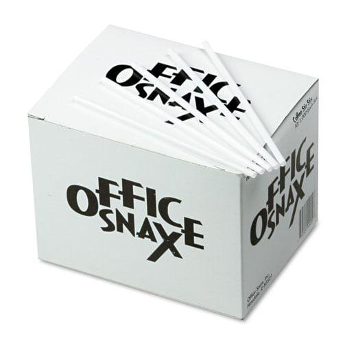Office Snax Plastic Stir Sticks, 1000ct