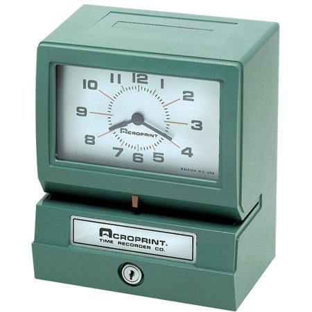 Acroprint 150 Time Clock (Acroprint Model 150 Analog Automatic Print Time Clock with Day/1-12)