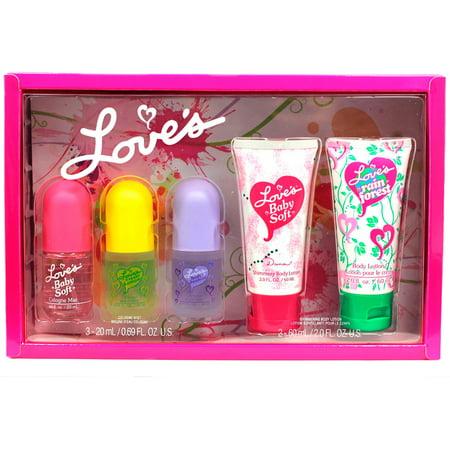 5pc Dana Loves Baby Soft Gift Box Set Cologne Lotion Lemon