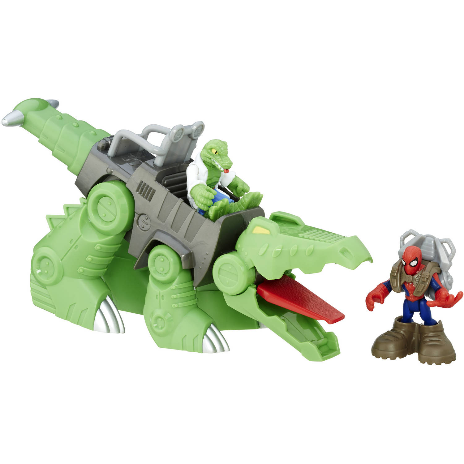 Playskool Heroes Marvel Super Hero Adventures Spider-Man & Gator-Bot by Hasbro