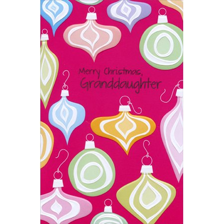 Freedom Greetings Colorful Embossed Ornaments: Granddaughter Christmas -