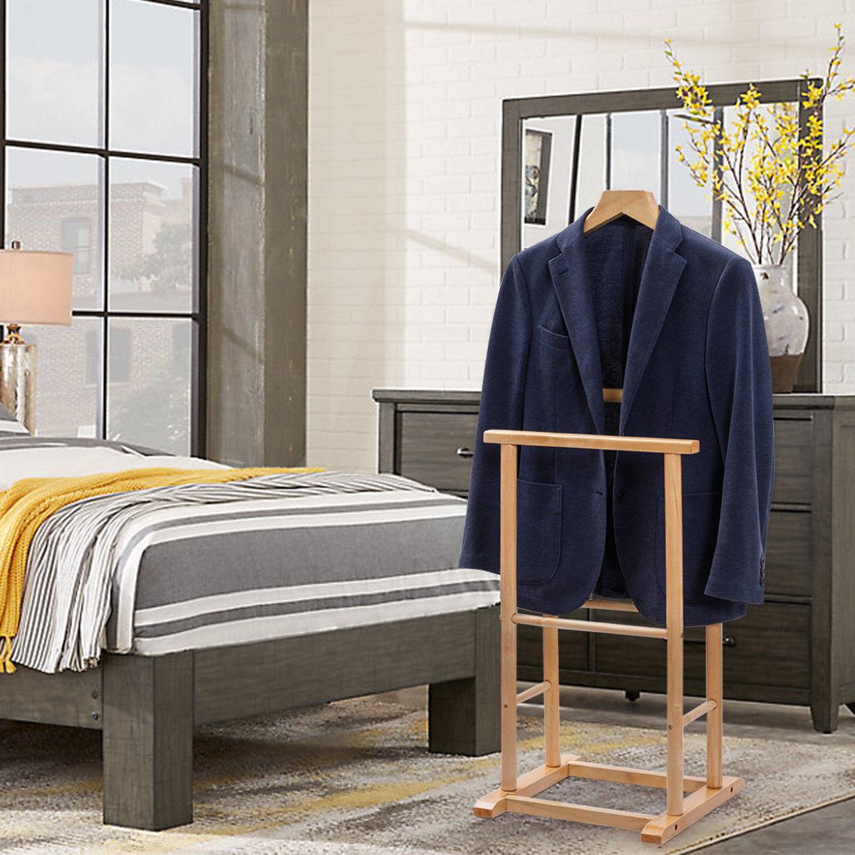 Gymax Men's Valet Stand Coat Rack Executive Clothes Suit Hanger Stand - image 4 de 8