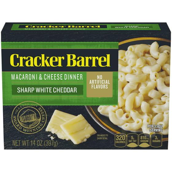 3 Pack) Cracker Barrel Macaroni & Cheese Dinner Sharp White Cheddar ...