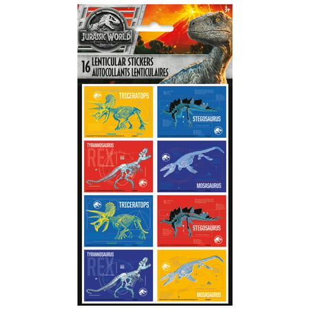 Jurassic World Lenticular Stickers, 16ct
