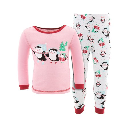 Toddler Girls' Komar Kids Penguin Winter 2pc Cotton Pajama Set