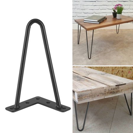 Hilitand 4Pcs Iron Desk Legs Iron Table Desk Legs Home Accessories for DIY Handcrafts Furniture Black(8inch,12inch,16inch,28inch) ()