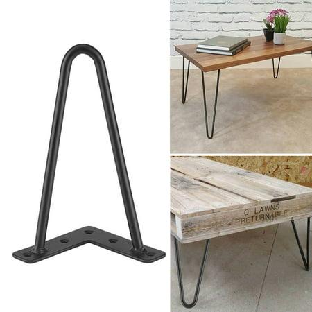 Diy Kids Desk (Hilitand 4Pcs Iron Desk Legs Iron Table Desk Legs Home Accessories for DIY Handcrafts Furniture)