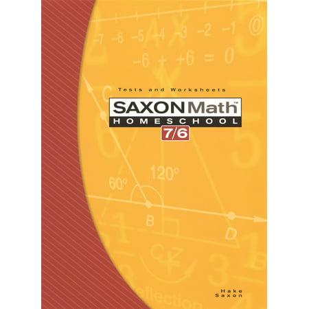 Saxon Math Homeschool 7/6 : Tests and Worksheets