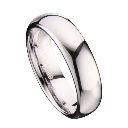 6mm Mirror Polished Comfort Fit Ring Tungsten Carbide Wedding Band