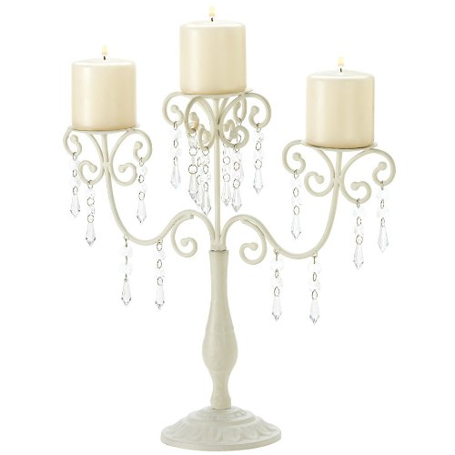 25 Ivory Elegance Candelabra, Candle, By Unknown by