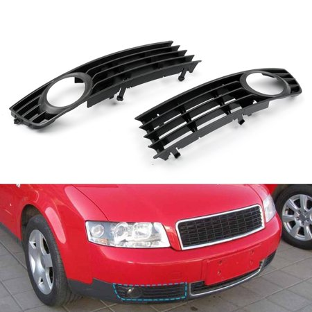 Areyourshop Low Bumper Fog Light Lamp Grille Grill Cover For Audi A4 B6 2002-2005, 2PCS Audi A4 Abs Light