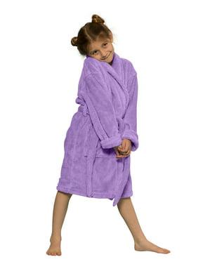 Kids Robe 100% Microfleece for Girls. Soft & Cozy Plush Bathrobe