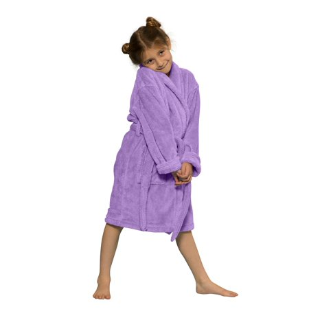 Cozy Robe (Kids Robe 100% Microfleece for Girls. Soft & Cozy Plush)