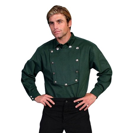 Brown Plaid Western Shirt - Scully Western Shirt Mens Bib Twill Cotton Long Sleeve 538720