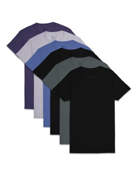 Fruit of the Loom Men's and Big Men's Short Sleeve Colored Crew T-Shirts