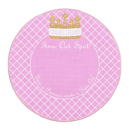 Child To Cherish Time Out Spot Rug Pink Princess