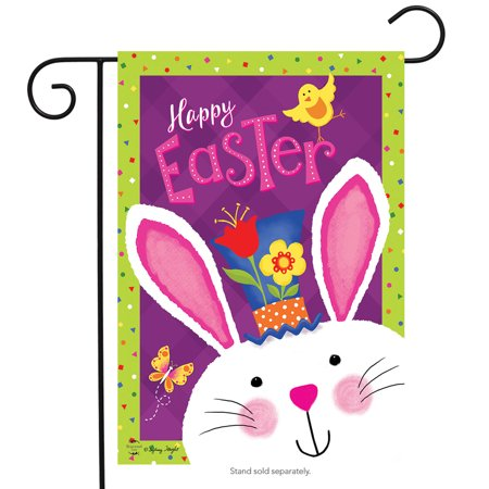 easter greetings garden flag bunny holiday 12.5