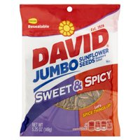 David Jumbo Sweet and Spicy Sunflower Seeds, 5.25 Oz., 12 Count