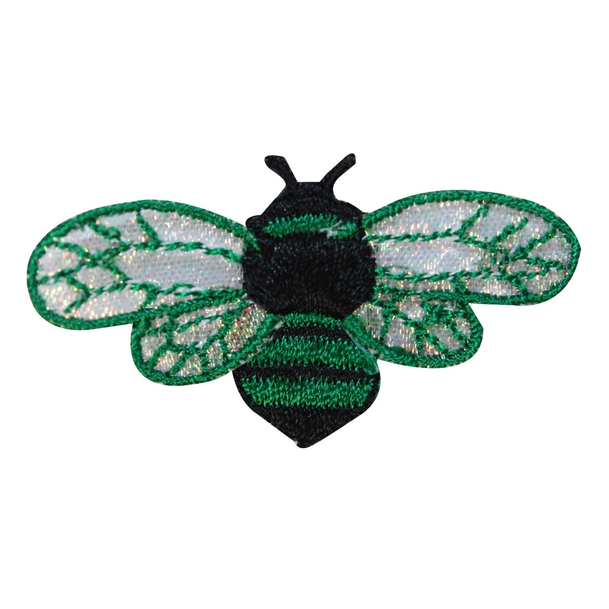 ID 1615A Bee Flying Patch Honey Wasp Colorful Bug Embroidered Iron On Applique