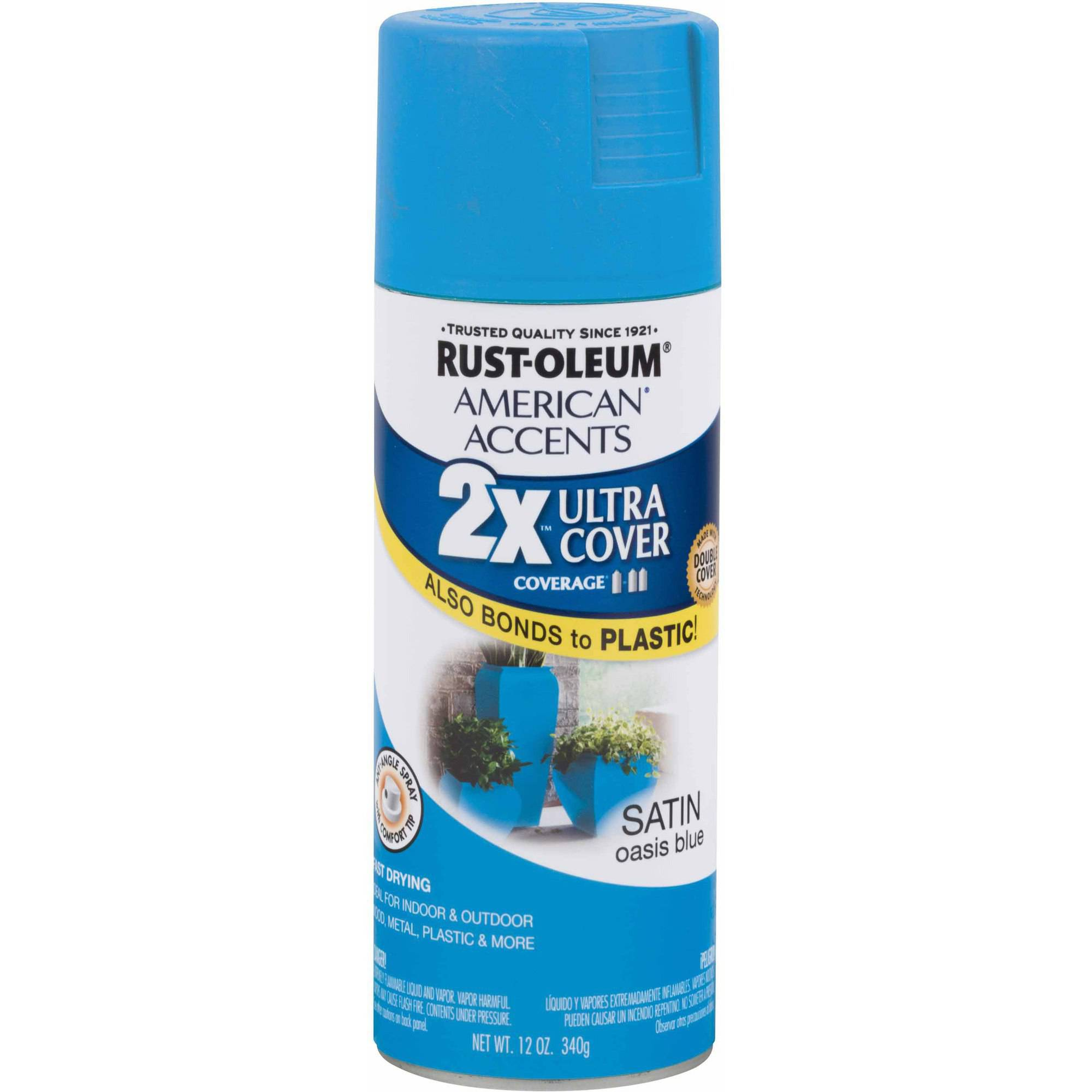 Rust-Oleum American Accents Ultra Cover 2x, Satin Oasis Blue