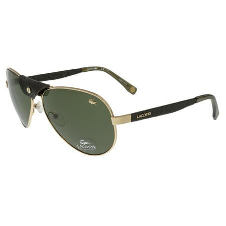 085582ab9df Lacoste - Lacoste L170 SL 714 Gold Vintage Aviator Sunglasses - Walmart.com